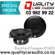 "Rockford Fosgate R14X2 4"" (10cm) 60W 2 Ways Full Range Car Speakers (Pair) with Easy Layby"