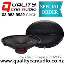 "Rockford Fosgate R169X2 6x9"" 130W (65W RMS) 2 Way Coaxial Car Speakers (Pair) with Easy LayBy"