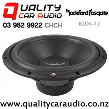 "Rockford Fosgate R2D4-12 12"" 500W (250W RMS) Dual 4 ohms Voice Coil Shallow Car Subwoofer with Easy Finance"