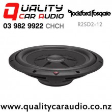 "Rockford Fosgate R2SD2-12 12"" 500W (250W RMS) Dual 2 ohm Voice Coil Shallow Car Subwoofer with Easy Finance"