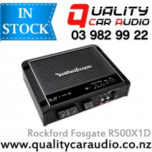 Rockford Fosgate R500X1D 500W 1 Channel Class D Mono Mosfet Car Amplifier with Easy Layby