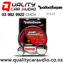 Rockford Fosgate RFK4X 4 Gauge Amplifier Power Installation Kit include RCA $ Speaker Wire with Easy Finance