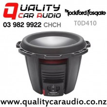 "Rockford Fosgate T0D410 10"" 1100W (550W RMS) Dual 4 ohm Voice Coil Car Subwoofer with Easy Finance"