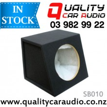 "QCA-SB010 Quality 10"" (25cm) Black Carpeted MDF Subwoofer Box with Easy Layby"