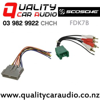 scosche fdk7b low level head unit wire harness kit for amplified ford with  easy payments