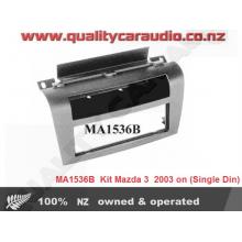 Scosche MA1536B 2004 - UP Mazda 3 Pocket Installation Kits (Single Din) with Easy Layby