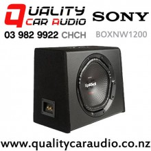 "Sony BOXNW1200 12"" 1800W (300W RMS) Single 4 Voice Coil Car Subwoofer Enclosure with Easy Finance"