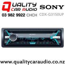 Sony CDX-G3150UP CD USB iPod Aux NZ Tuners 2x Pre Outs Car Stereo with Easy Finance