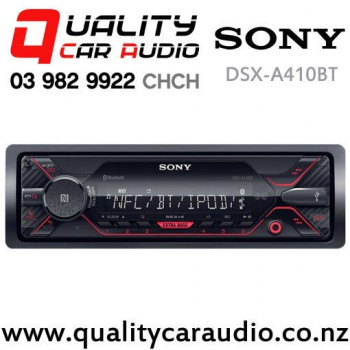 sony dsx a410bt dual bluetooth usb aux nz tuners 2x pre out mechless car stereo with easy finance. Black Bedroom Furniture Sets. Home Design Ideas
