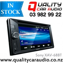 "Sony XAV-68BT 6.2"" Bluetooth DVD MP3 USB AUX iPod NZ Tuners 2x Pre Outs with Easy LayBy"