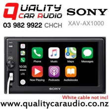 Sony XAV-AX1000 Apple CarPlay Bluetooth USB AUX NZ Tuners 3x Pre Outs Car Stereo with Easy Finance