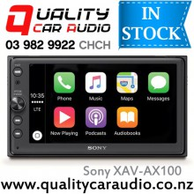 "Sony XAV-AX100 6.4"" Apple CarPlay Android Auto Bluetooth USB NZ Tuners 3x Pre Outs Car Stereo with Easy LayBy"