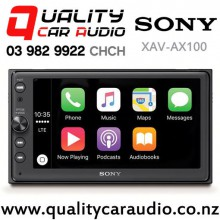 """Sony XAV-AX100 6.4"""" Apple CarPlay Android Auto Bluetooth USB NZ Tuners 3x Pre Outs Car Stereo with Easy Finance"""