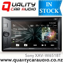 "Sony XAV-W651BT 6.1"" Bluetooth DVD USB AUX NZ Tuners 3x Pre Outs Head Unit with Easy LayBy"