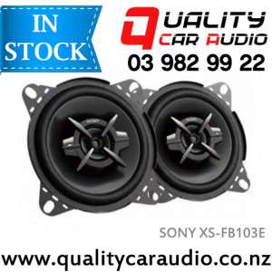 """Sony XS-FB103E 4"""" (10cm) 210W 3 Ways Coaxial Car Speakers (Pair) with Easy Layby"""