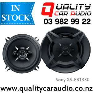 """Sony XS-FB1330 5.25"""" (13cm) 240W 3 Ways Coaxial Car Speakers (Pair) with Easy Layby"""