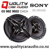 """Sony XS-FB163E 6.5"""" (16.5cm) 260W 3 Ways Coaxial Car Speakers (Pair) with Easy Finance"""