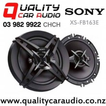 "Sony XS-FB163E 6.5"" (16.5cm) 260W 3 Ways Coaxial Car Speakers (Pair) with Easy Finance"
