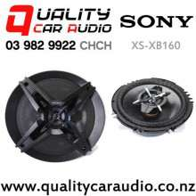 "SONY XS-XB160 6.5"" 350W (60W RMS) 3 Way Coaxial Car Speakers (pair) with Easy Finance"