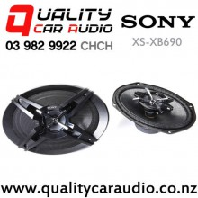 "SONY XS-XB690 6x9"" 500W (75W RMS) 3 Way Coaxial Car Speakers (pair) with Easy Finance"