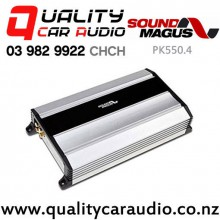 SoundMagus PK550.4 140W RMS 4/3/2 Channel Class D Car Amplifier with Easy Finance