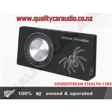 "SOUNDSTREAM STEALTH-13BX 13"" Single 4 ohm 400W Shallow Subwoofer Enclosure"