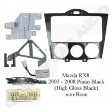 TBXE-T003R Mazda RX8 2003 - 2008 2 Din Black Fitting Kits with EasyLayby