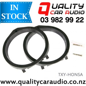 TXY-HONSA Honda Speaker Adapters suit 165mm after market Speakers (Pair) with Easy Layby