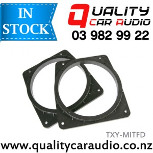 TXY-MITFD Mitsubishi Front Door Speaker Adapters suit 165mm after market Speakers (Pair) with Easy Layby
