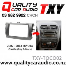 TXY-TOCO02 Toyota Corolla 2007 - 2013 (Grey & Black) for Double Din Stereo