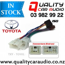 TXY-TOY01 Toyota to iso Car Stereo Wiring connector year 1987 onward with Easy Layby