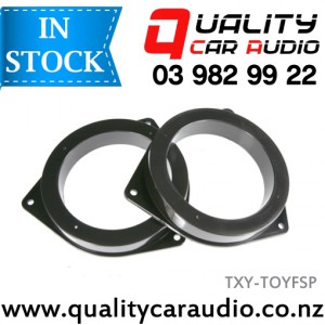 TXY-TOYFSP Toyota Front Door Speaker Adapters suit 165mm after market Speakers (Pair) with Easy Layby