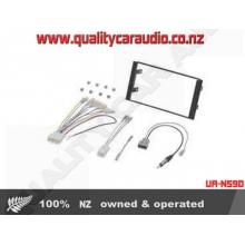 UA-N59D Nissan Wide Fascia Kit inc Wiring - Easy LayBy