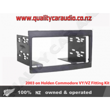 Holden Commodore VY-VZ Double Din Fitting Kit 2003 on (Black)