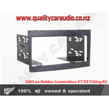 Holden Commodore VY-VZ Double Din Fitting Kit 2003 on (Grey)