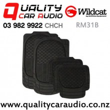 WILDCAT RM31B BLACK ALL WEATHER MAT 5 STAR SET 4 with Easy Finance