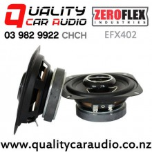 "ZeroFlex EFX402 4"" 60W RMS 2 Way Coaxial Car Speakers (pair) with Easy Finance"