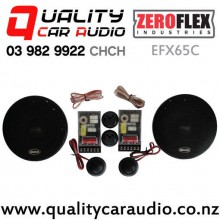 """ZeroFlex EFX65C 6.5"""" 80W RMS 2 Way Component Car Speakers (pair) with Easy Finance"""